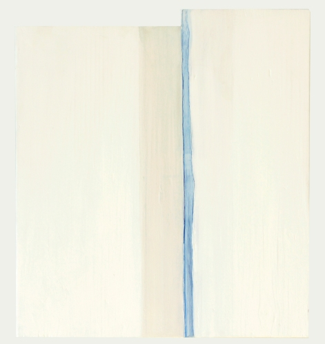 white morning, 2012, acrylic, and graphite on repurposed wood ,15 x 13.25""
