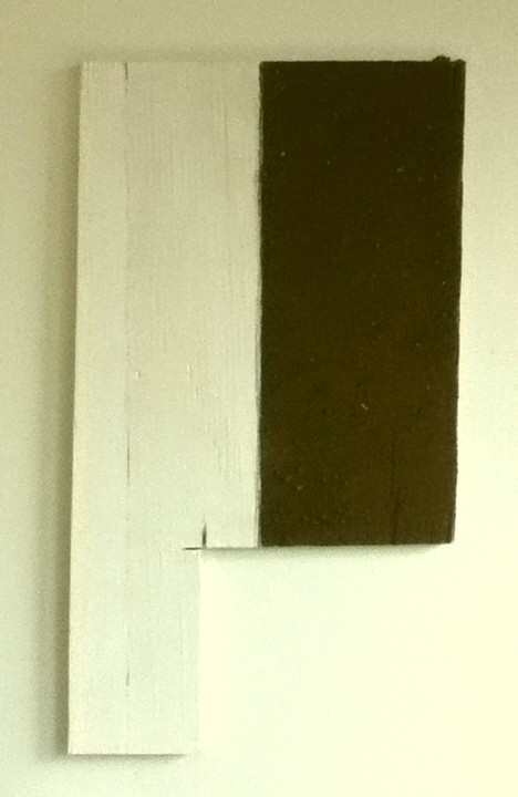 Beneath the Surface, 2013, graphite, acrylic, re-purposed wood, earth from under the surface of Christ Mountain, Masonville CO. 18 x 10""